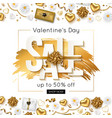 valentines day sale online banner vector image vector image