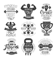 Vintage Gym Fitness Stamp Collection vector image vector image