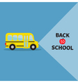 Yellow bus Transportation Side view Back to school vector image vector image