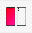 flat smartphone design isolated mobile phone vector image