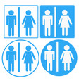 a man and a lady toilet sign toilet sign on vector image