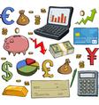 financial set vector image