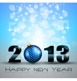 2013 New Year Celebration Background vector image