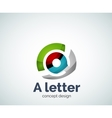 A letter concept logo template vector image vector image