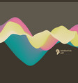 abstract wavy background for banner flyer book vector image vector image