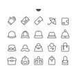 accessories ui pixel perfect well-crafted vector image vector image