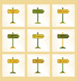 assembly flat shading style icons sign aquatic vector image vector image