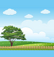 background scene with tree in the field vector image vector image