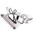 barbershop and hair salon silhouette vector image vector image