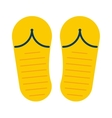 Beach slippers sneakers summer shoes vector image vector image