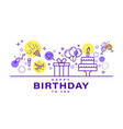birthday card design celebration party party vector image vector image