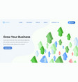 business development service landing page vector image vector image