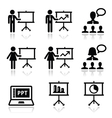 Business presentation lecture speech icon vector image