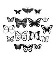 butterfly icons set simple style vector image vector image