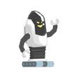 cartoon crawler robot cyborg character vector image vector image
