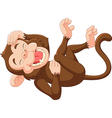 Cartoon funny monkey laughing vector image vector image