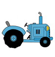Cartoon tractor vector image