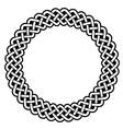 Celtic round frame border pattern vector image