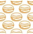 Cheeseburger seamless pattern vector image vector image
