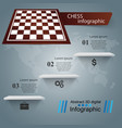 chess game business infographic vector image