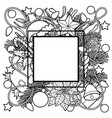 christmas outline frame vector image vector image