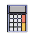 colorful silhouette of calculator icon vector image