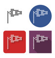 dotted icon windsock in four variants with vector image
