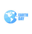 earth day logo design 22 april blue and white vector image vector image