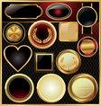 Empty golden frame set vector image