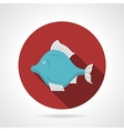 Exotic fish red round icon vector image vector image