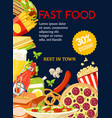 fast food meal combo special offer vector image vector image
