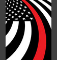 firefighter support flag background vector image vector image