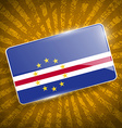 Flag of Cape Verde with old texture vector image