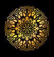 golden mandala circle pattern vector image vector image