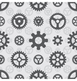 Gray gears seamless pattern vector image