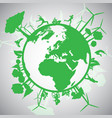 green eco world vector image