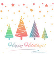 greeting card for winter holidays vector image vector image