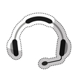 headset call center device vector image vector image