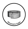 Icon of Measure tape vector image vector image