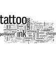 instantly removable tattoo inks vector image vector image