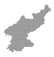 map with dot vector image vector image