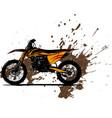 motocross rider ride the motocross vector image