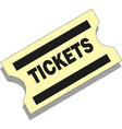 old paper ticket icon on white background vector image