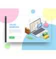 online bank website design vector image vector image