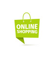 online shopping icon delivery food sign e vector image vector image
