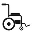 patient wheelchair icon simple style vector image vector image