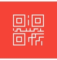 QR code line icon vector image
