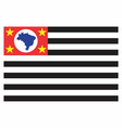 sao paulo state flag vector image vector image