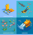 scuba diving design concept vector image