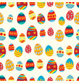 seamless pattern of colorful decorated eggs vector image